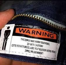 zipper warning
