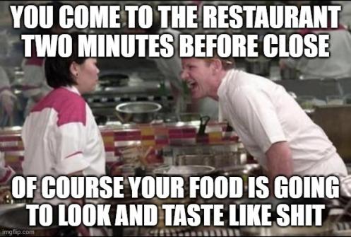 restaurant close