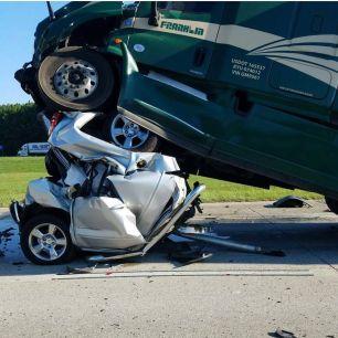 Brake check accident
