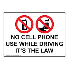 No cell phone use