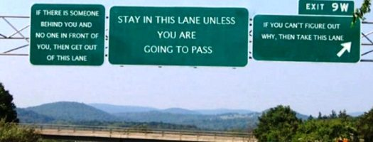 Left lane campers